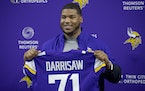 Vikings' first-round draft pick Christian Darrisaw from Virginia Tech.