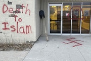A Moorhead man told investigators that he defaced a mosque during a holy month to get a reaction.