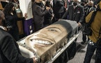 The casket of Daunte Wright was removed from Shiloh Temple International Ministries after his funeral in April.