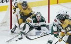 Cam Talbot will be in net when the Wild hosts the Golden Knights on Monday at Xcel Energy Center.