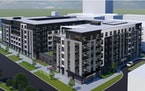 An artist's rendering of the Lexington Station apartments, proposed for a site on Lexington Parkway in St. Paul.