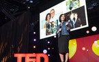 """Lisa Genova, author of """"Remember,"""" speaks during the Unplugged Session at TED2018."""