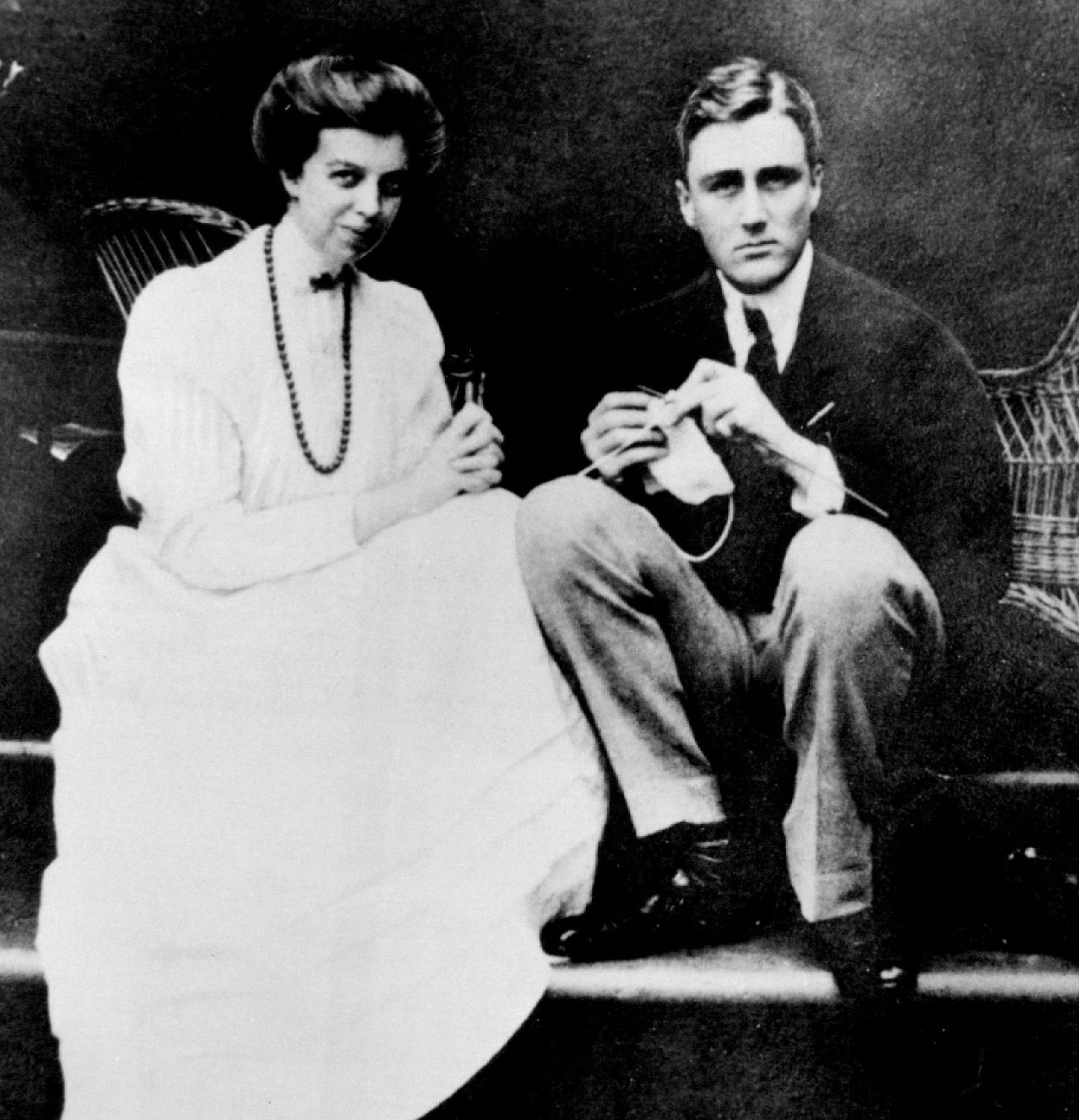 Eleanor and Franklin D. Roosevelt shortly after their honeymoon.