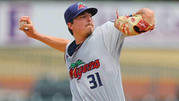 Twins minor-league pitching prospect Jordan Balazovic in 2019.