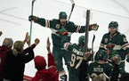 The Wild scored twice in the final two minutes of the third period to top the Golden Knights 6-5 on Monday at Xcel Energy Center.