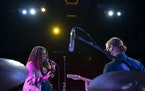 Annie Mack sang during her sound check with guitarist Steve Gripp, as they worked together for the first time.