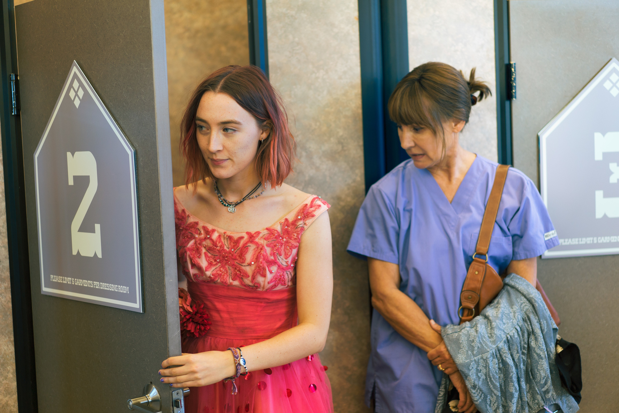 Saoirse Ronan, left, and Laurie Metcalf in a scene from 'Lady Bird.'