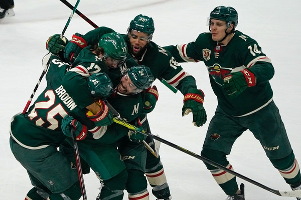 The Wild will vie for a sweep Wednesday against the Golden Knights after a late-game rally on Monday.