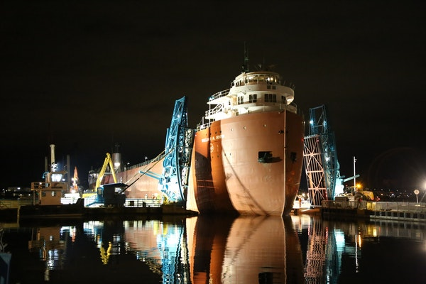 The William A. Irvin was carefully moved into its slip in the Duluth harbor in 2019. The floating museum reopens for tours May 21 and will bring back