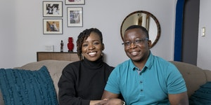 Funmi Okanla-Falade and Wale Falade in their St. Paul home.