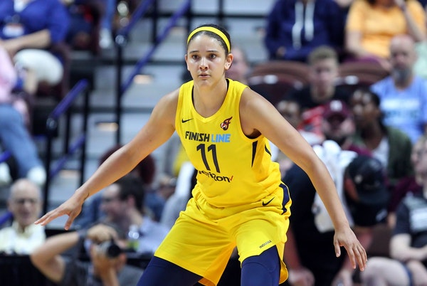 Natalie Achonwa is playing for the Lynx this season after six seasons with Indiana.