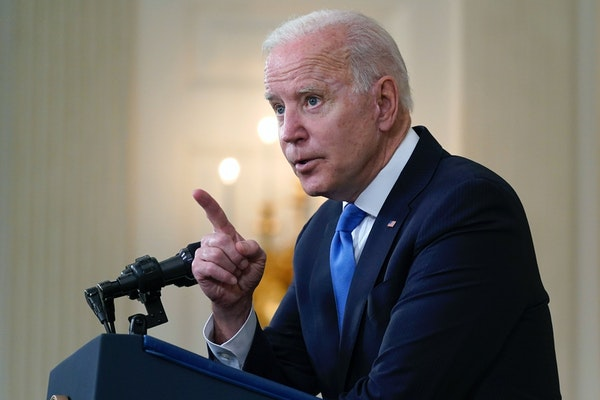 President Joe Biden took questions from reporters on Wednesday, May 5, 2021, in Washington.