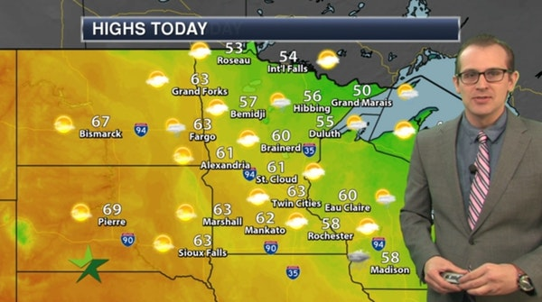 Afternoon forecast: Dry, breezy; high 63