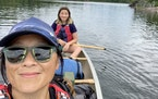 Mother and daughter duo Allison McVay-Steer and Amelie Steer made plans to visit the BWCA in all four seasons during the pandemic. The last in the ser