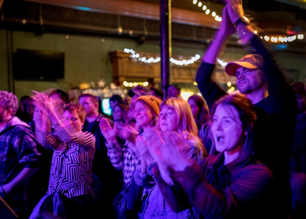 Fans cheered Charlie Parr in 2019 at the Turf Club, which has been under repair during lockdown but could now reopen with shows over the summer.
