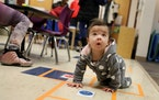 A toddler explored north Minneapolis' Mona Moede Early Learning Center in 2018. Families with preschoolers have important allies in Minnesota busine