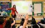 This file photo from 2017 shows a class at Green Central Elementary, one of the Minneapolis schools likely to see more racial and economic integration