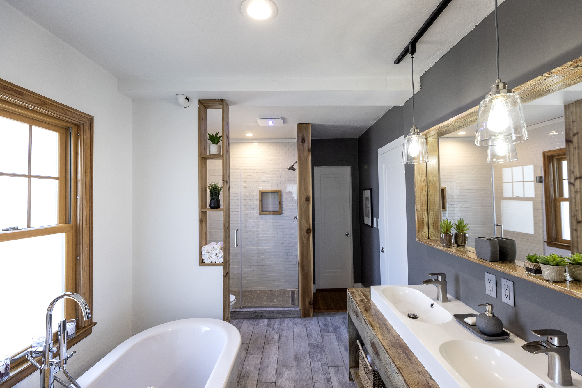 Remodeled bathroom at St. Paul the home of Wale Falade and Funmi Okanla-Falade.
