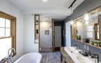 Remodeled bathroom at St. Paul the home of Wale Falade and Funmi Okanla-Falade.            ] CARLOS GONZALEZ ¥ cgonzalez@startribune.com Ð St. Paul,