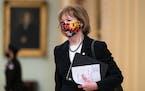 U.S. Sen. Tina Smith, D-Minn., on Capitol Hill in February.