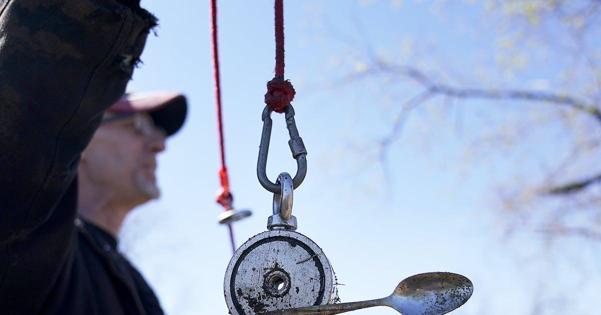 Minnesota's magnet fishers seek sunken treasure, be it antique tools or guns