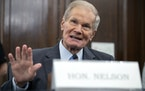 Former U.S. Sen. Bill Nelson, now administrator of NASA, speaks during a Senate Committee on Commerce, Science, and Transportation confirmation hearin