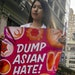 Ida Chen joined a rally on April 24 to protest anti-Asian hate in New York City's Chinatown. Chen is American-born Chinese.