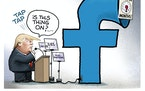 Sack cartoon: Trump's Facebook megaphone