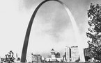 This is how the Gateway Arch looked on Feb. 27, 1968. The 630-foot Gateway to the West is the nation's tallest monument.  It was opened in 1965 but
