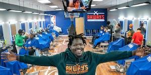 Akeem Akway, owner, Akway's Sports Barbershop in Mounds View.