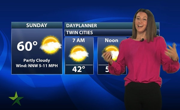Evening forecast: Low of 40 and clearing ahead of a cool but nice Sunday