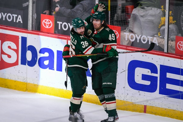 Victor Rask scored in overtime on Saturday, sealing a 4-3 win for the Wild over the Ducks at Xcel Energy Center.