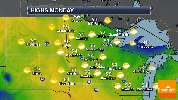 A Cool Monday With Slow Warming This Week