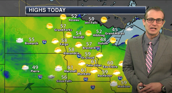 Afternoon forecast: High 61, mostly sunny