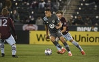 Minnesota United's Hassani Dotson moved the ball past Colorado's Sam Vines on Saturday night.