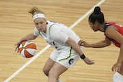Lynx guard Rachel Banham, with Kayla McBride and Aerial Powers not available to play against the Mystics on Saturday, scored 23 points in the 79-68 vi