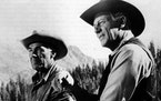 """Randolph Scott (left, with his good friend Joel McCrea) in his last film, 1962's """"Ride the High Country."""""""