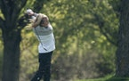 Isabella McCauley, a Simley High School junior who recently qualified for the women's U.S. Open, golfed during a meet at Rich Valley Golf Club in Ro