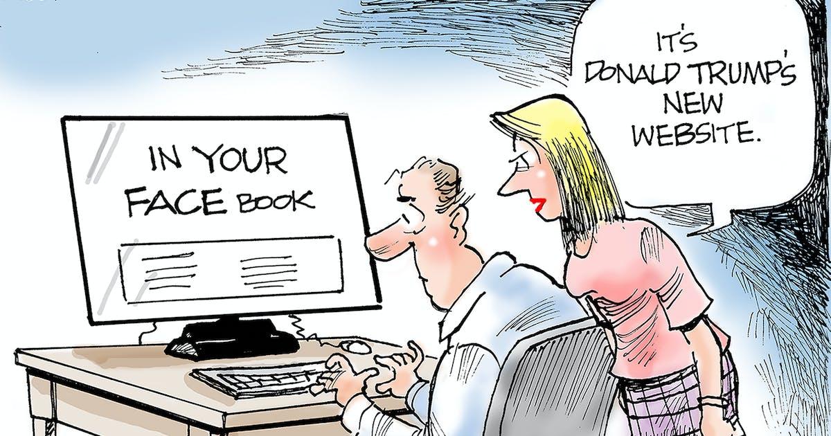 Editorial cartoon: Dana Summers on Trump's new website
