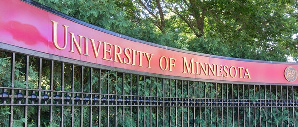 The entrance to the campus of the University of Minnesota.