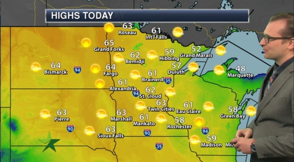 Morning forecast: Frosty start, warming up to 63