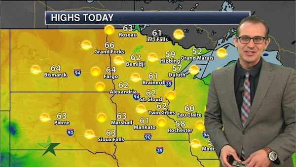 Afternoon forecast: 62, mix of sun and clouds