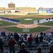 The St. Paul Saints and Iowa Cubs stood along the foul lines for the national anthem before launching a new era in Saints baseball as the Twins' Cla