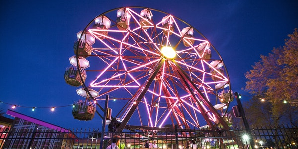 The vertically revolving patio (Ferris wheel) is a popular draw to Betty Danger's in northeast Minneapolis.