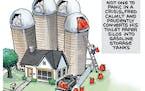 Sack cartoon: Not one to panic