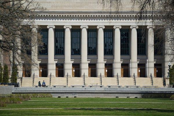 The University of Minnesota campus, pictured in April 2020.  GLEN STUBBE • glen.stubbe@startribune.com