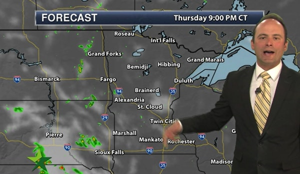 Evening forecast: Low of 49, with more clouds