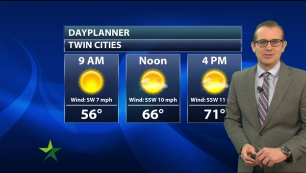 Morning forecast: Sunny, dry; high 71