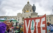 The Minnesota chapter of the National Organization for the Reform of Marijuana Laws rallied at the State Capitol in 2017. A proposal to legalize marij