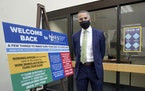Richard Lavers, Deputy Commissioner New Hampshire Employment Security, poses for a photo at a New Hampshire Works employment security job center Monda